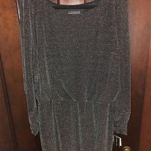 Jessica Howard Black Long-sleeve Sparkle Dress 14